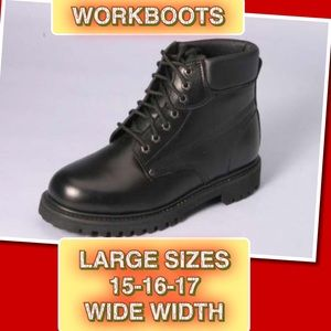 Crush Rocks with these Leather Black Work Boot